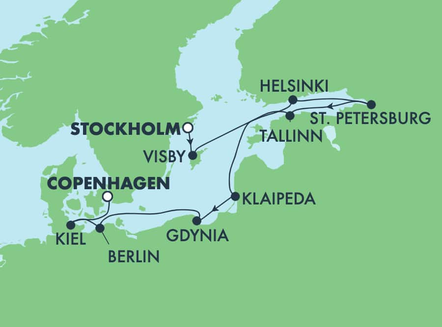 9-Day Baltic form Stockholm to Copenhagen: Germany, Russia & Sweden
