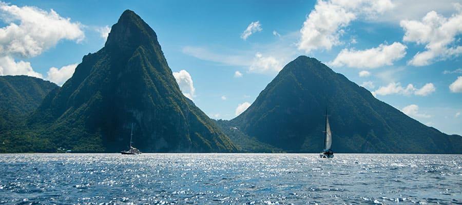 Relaxe em Santa Lúcia em nossos cruzeiros no Caribe