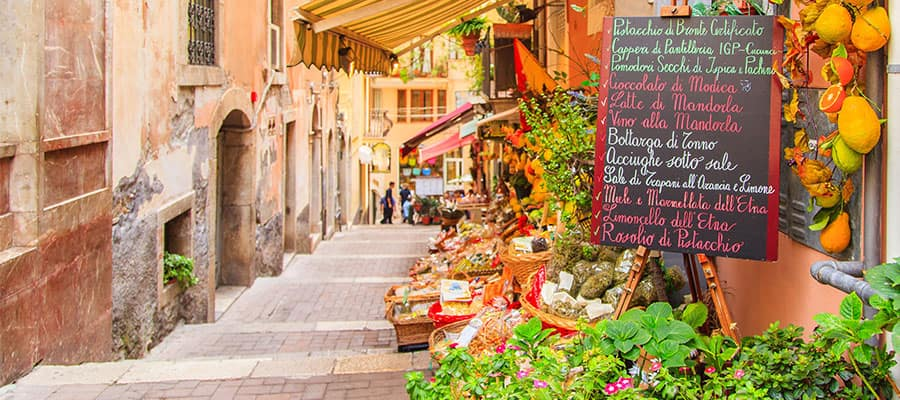 Shop in Sicily on your Europe Cruise