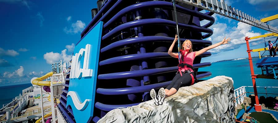 Zipline on your Transatlantic cruise