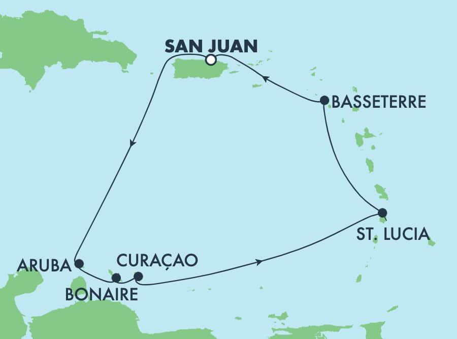 7 Tage Südliche Karibik ab San Juan