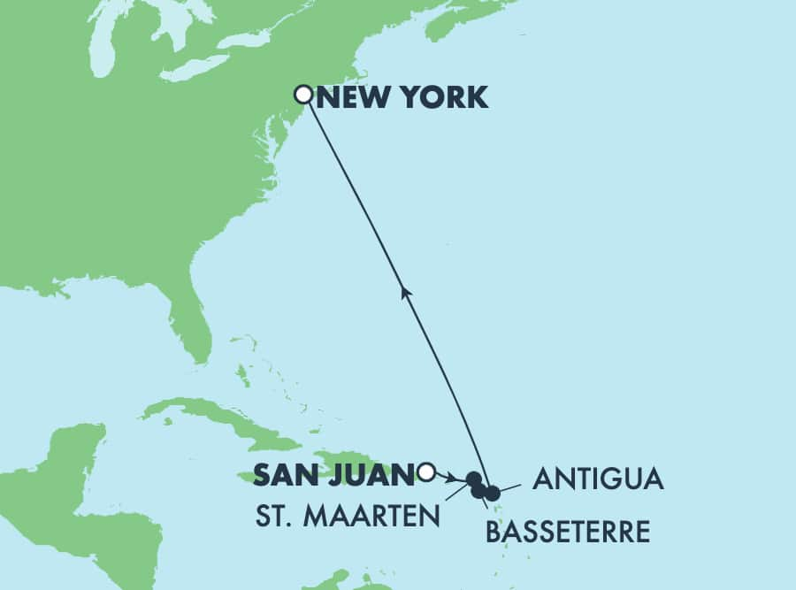 7-Day Caribbean from San Juan to New York: Antigua & Philipsburg