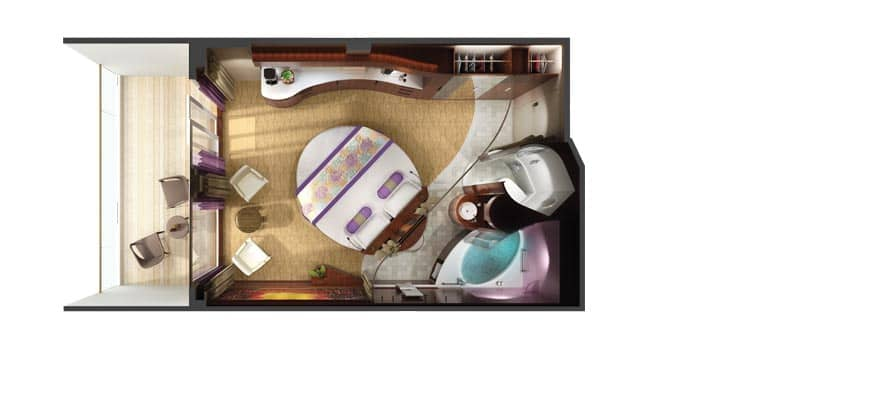 Plan de la cabine Penthouse Le Haven Courtyard avec balcon