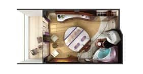 Norwegian Epic cruise ship Courtyard Penthouse floorplan.
