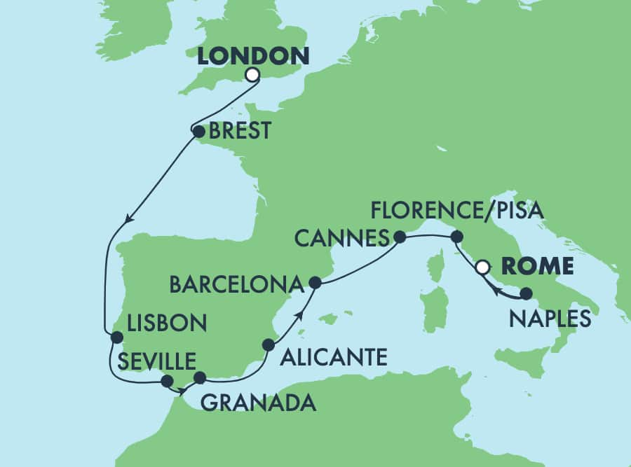 11-Day Europe from London to Rome: Italy, France, Spain & Portugal