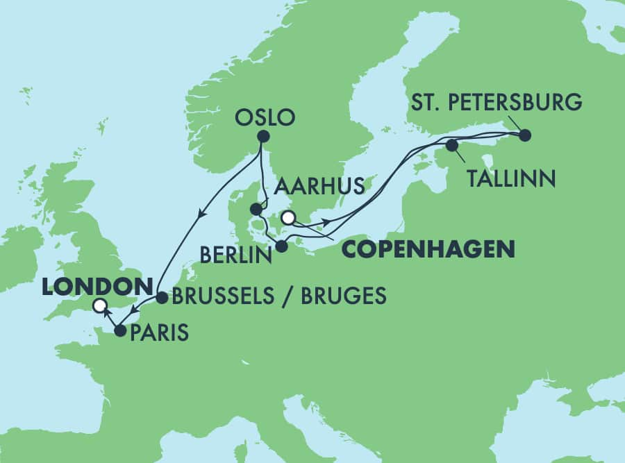 12-Day Baltic from Copenhagen to London: France, Germany & Norway