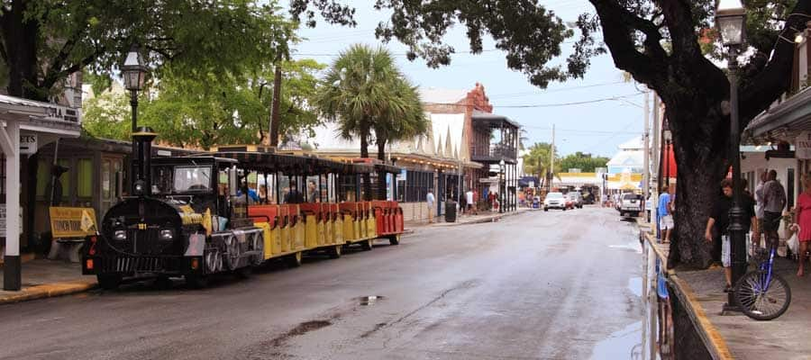 Travel by trolley when you cruise to Key West