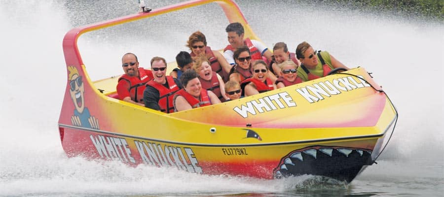 White Knuckle Thrill Boat on your cruise from Key West