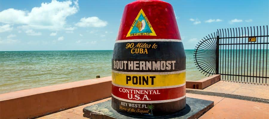 Travel to the Southernmost Point in the US on your Caribbean Cruise