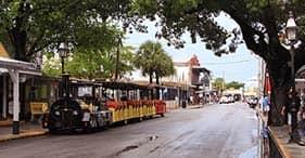 Cayo Hueso en tren turístico Conch