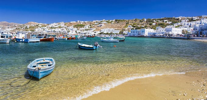 Embrace the refreshing waters of Mykonos
