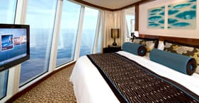 Norwegian Epic cruise ship Deluxe Owner's Suite with all around floor-to-ceiling
