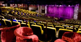 Norwegian Epic cruise ship The Epic Theatre featuring the Blue Man Group.