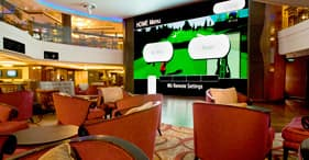 Norwegian Epic cruise ship 2-store height Wii Wall.