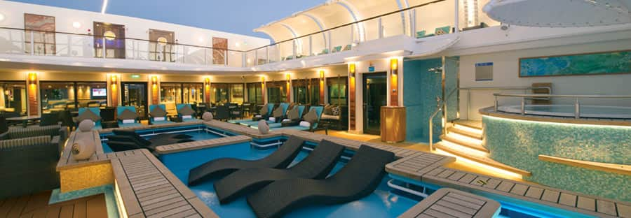 The Haven Courtyard on  Norwegian Getaway