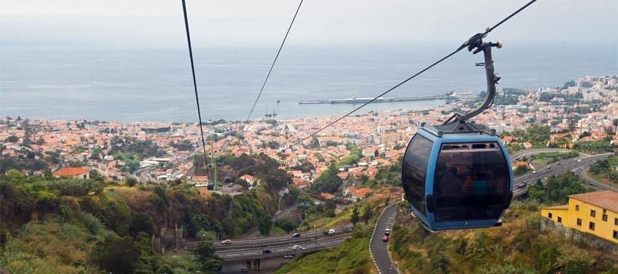 Passeios de teleférico em cruzeiros para Funchal