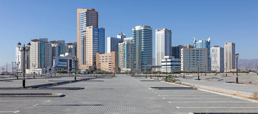Buildings in the city of Fujairah
