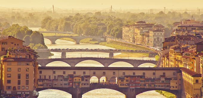 The enchanting Ponte Vecchio bridge in Florence