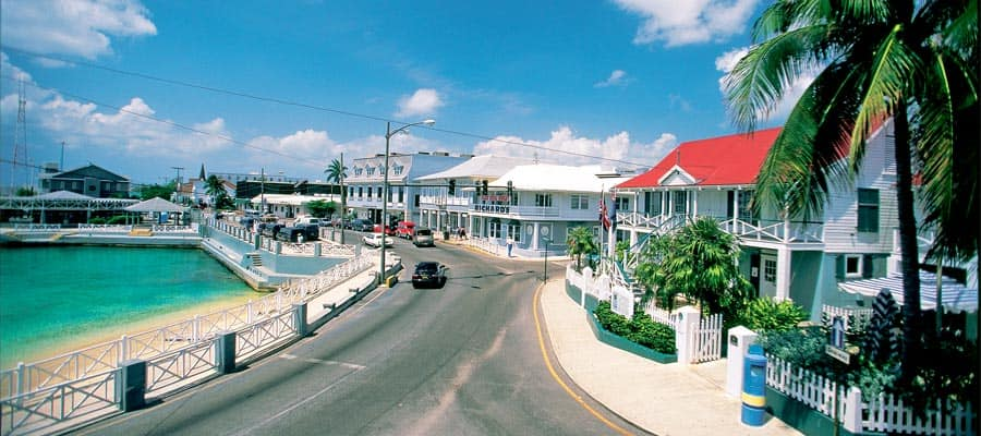 Ruas de Grande Cayman, no Caribe