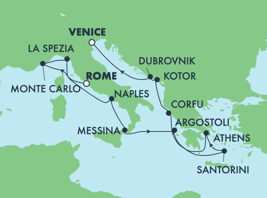 11-Day Greek Isles from Rome to Venice: Santorini, Athens & Croatia