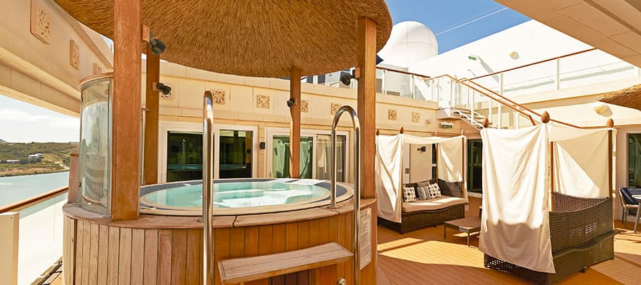 The Haven Three Bedroom Garden Villa Courtyard on Norwegian Gem