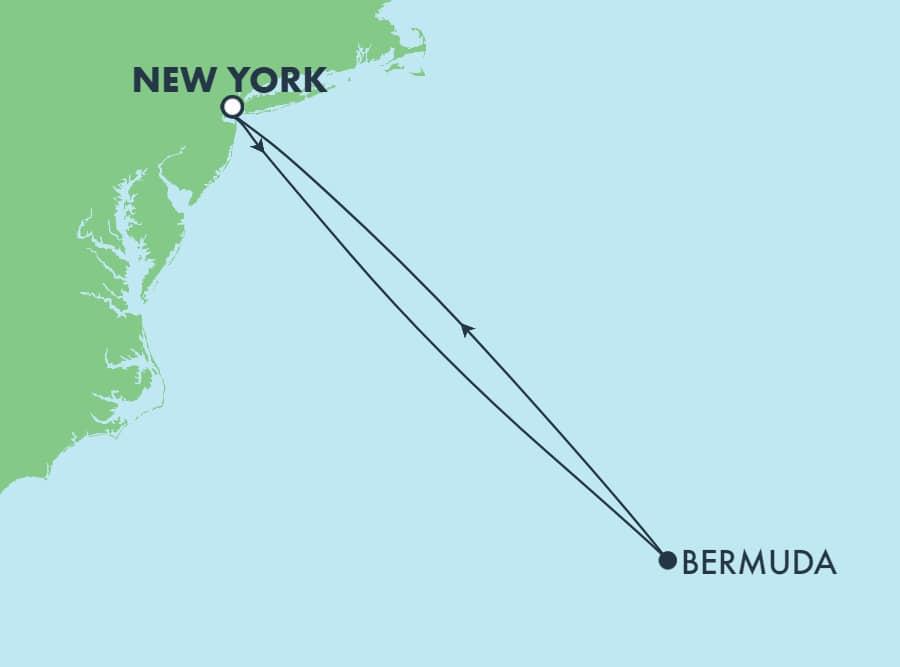 שייט הלוך ושוב בן 4 ימים הלוך ושוב מניו יורק לברמודה