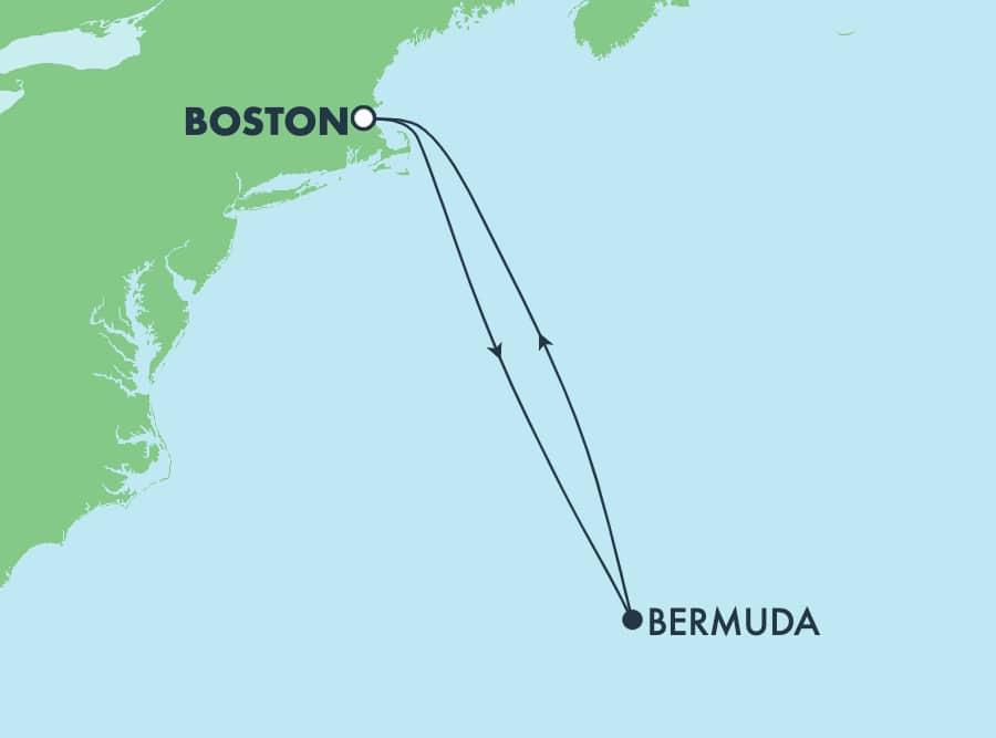 שייט הלוך ושוב בן 7 ימים מבוסטון לברמודה