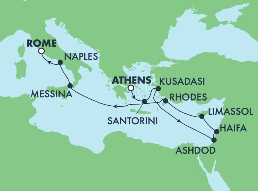 11-Day Mediterranean from Athens to Rome: Italy, Greece & Turkey