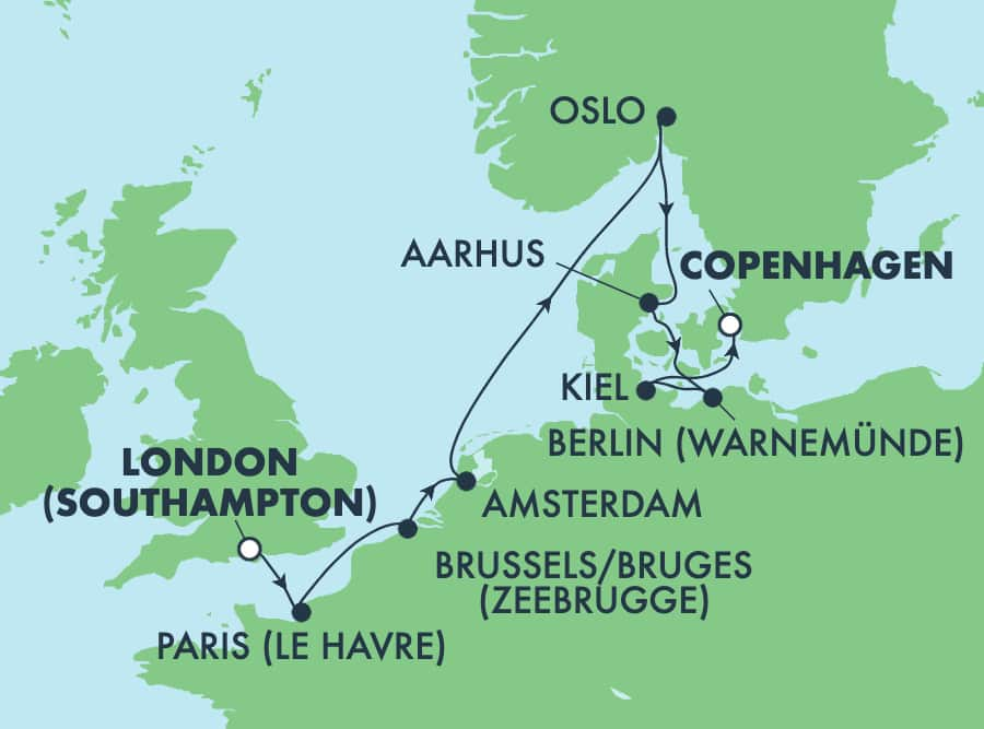 9-Day Europe from London to Copenhagen: France, Germany & Norway