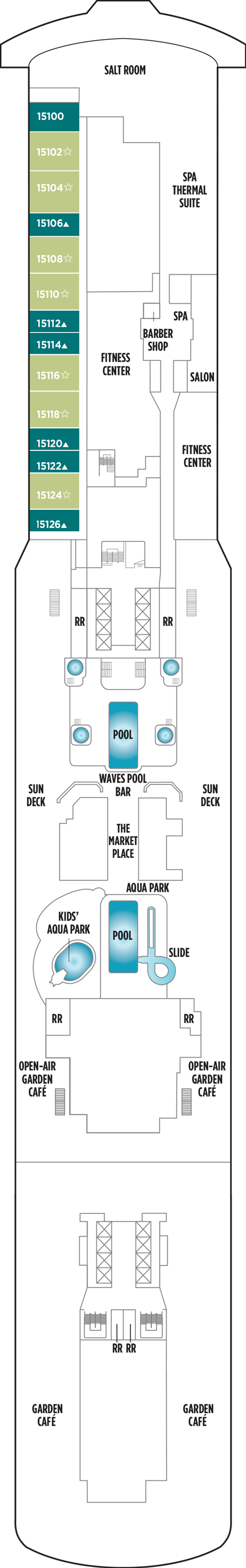 norwegian getaway cruise ship deck plans