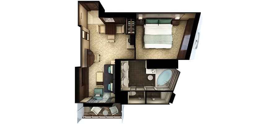 Floor plan The Haven Forward-Facing Penthouse with Balcony