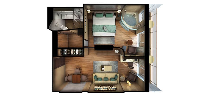 Floor plan The Haven Deluxe Suite with Balcony