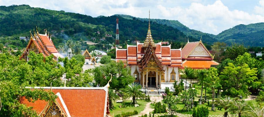 Wat Chalong on your Cruise to Phuket