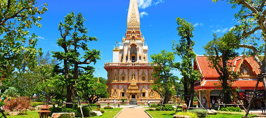 Wat Chalong temple while cruising Phuket