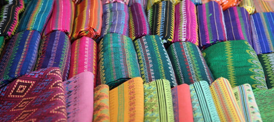 Traditional Thai silk cloth in Phuket