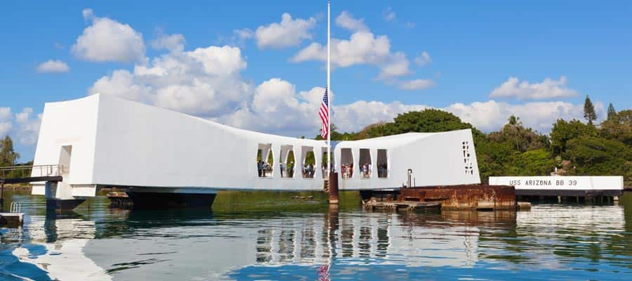 Hawaiikreuzfahrt zum USS Arizona Memorial in Pearl Harbor