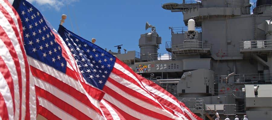 Battleship Missouri in Pearl Harbor on your Hawaii cruise