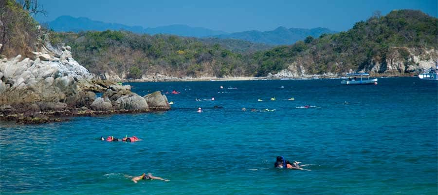Snorkel in Huatulco on your Panama Canal cruise