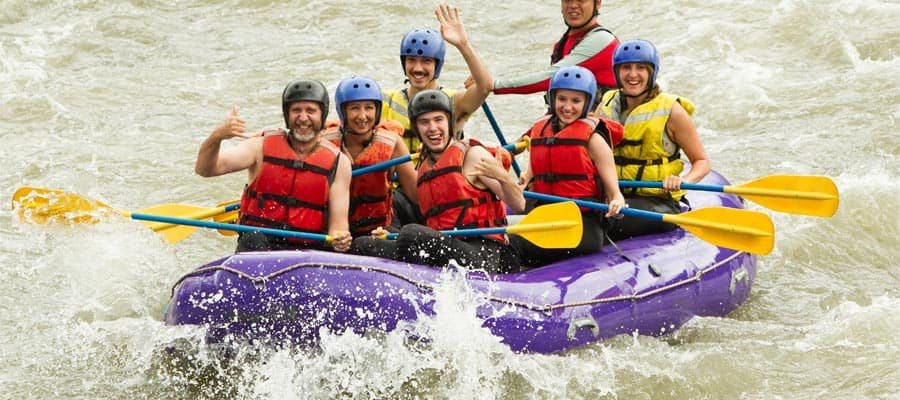 Whitewater rafting on your South America cruise