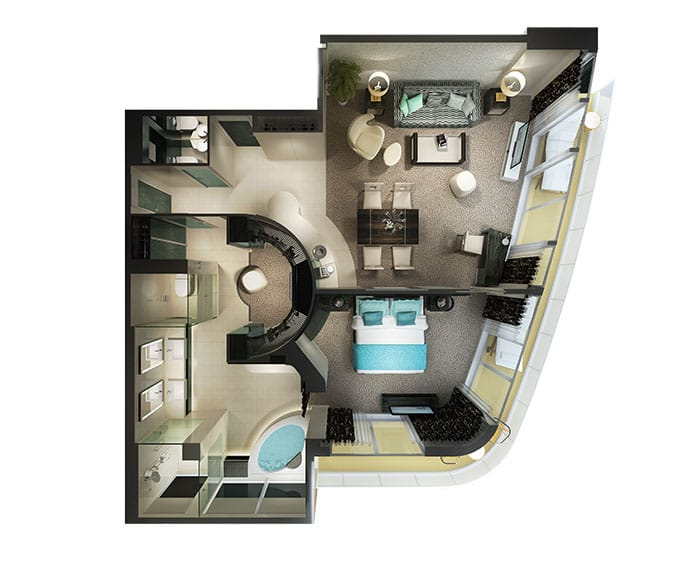 Floor Plan on Norwegian Getaway