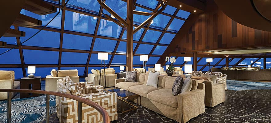 Soak up the views from the exclusive Haven Observation Lounge.