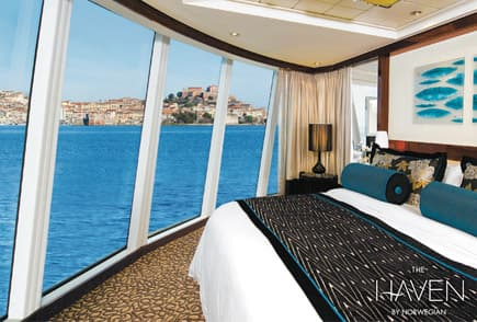 Experimente The Haven no Norwegian Cruise Line.