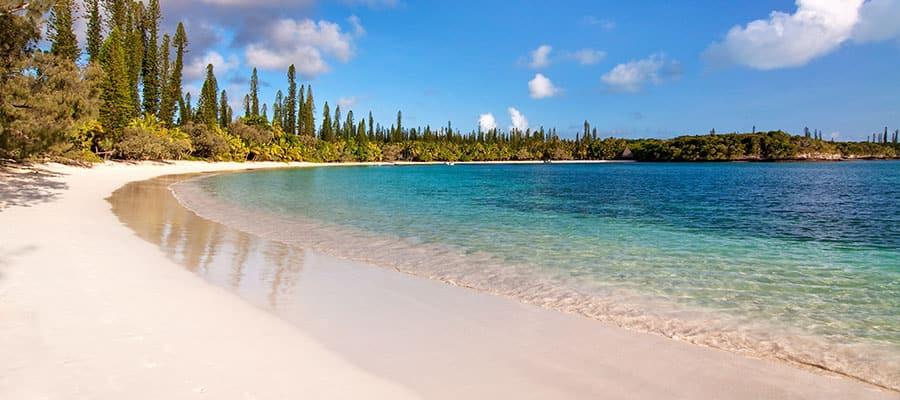 Praia tropical na Ilha dos Pinheiros