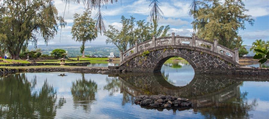 Machen Sie auf Ihrer Hawaiikreuzfahrt einen Halt in den Japanischen Gärten