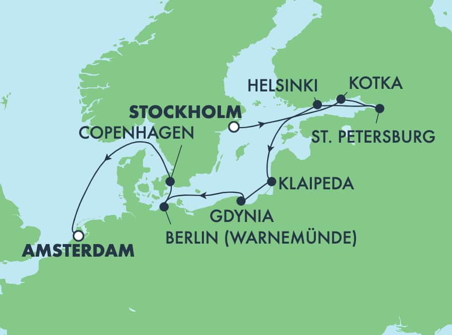 10-Day Baltic from Stockholm to Amsterdam: Germany, Russia & Poland