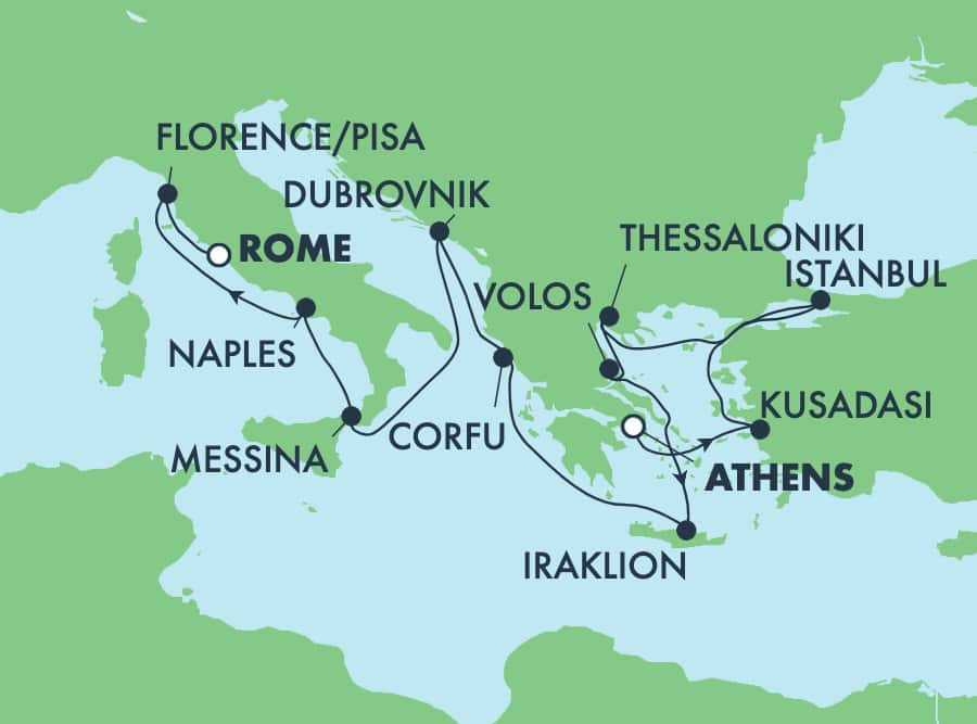 11-Day Greek Isles from Athens to Rome: Crete, Corfu & Florence