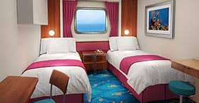Norwegian Jewel cruise ship Oceanview Stateroom with two beds and picture window