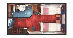 Norwegian Jewel cruise ship Oceanview Stateroom floorplan.