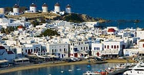 Scenic Views of Mykonos