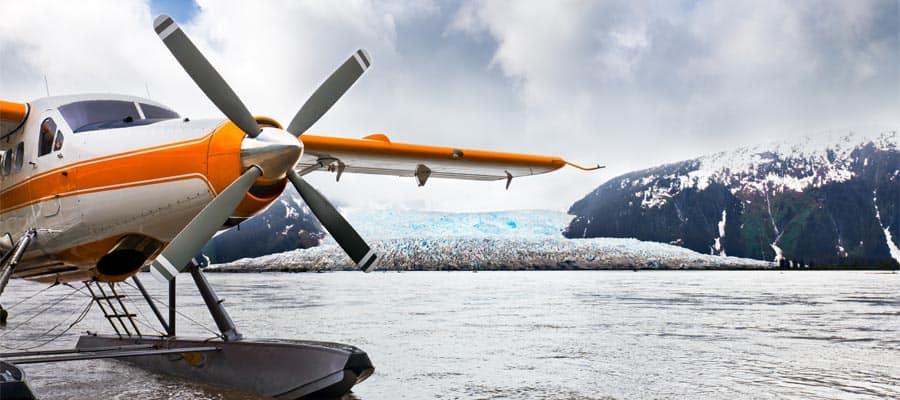 Tour aéreo panorámico por Alaska en cruceros en Alaska
